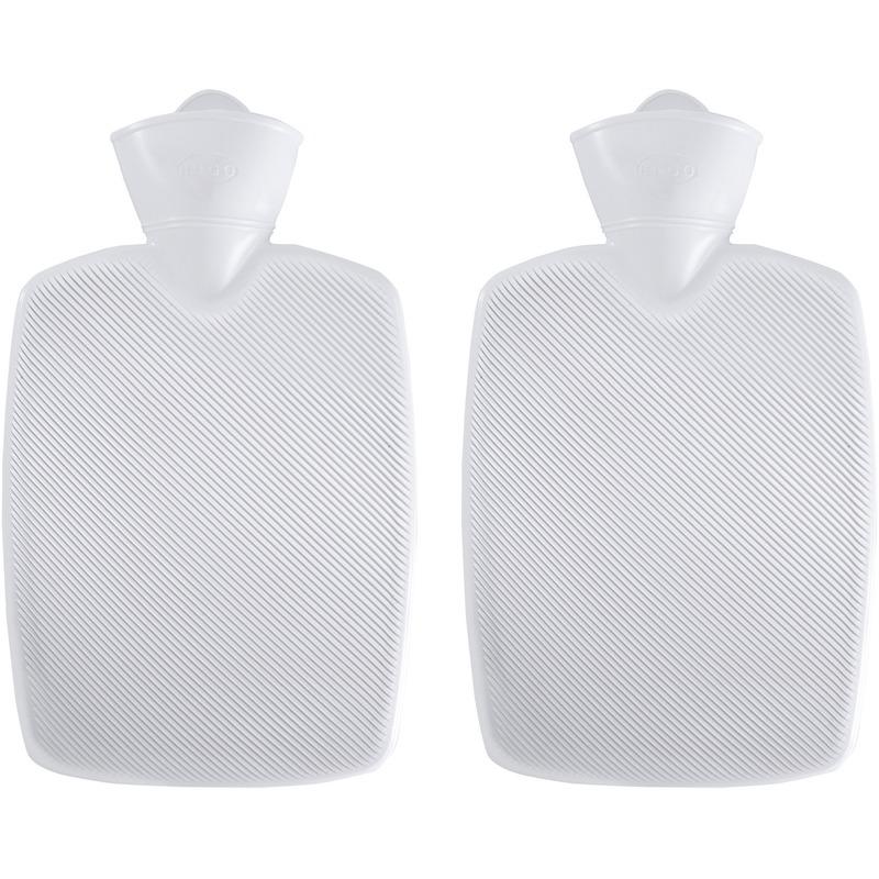 Afbeelding van 2x Witte kunststof waterkruiken 1,8 liter zonder hoes