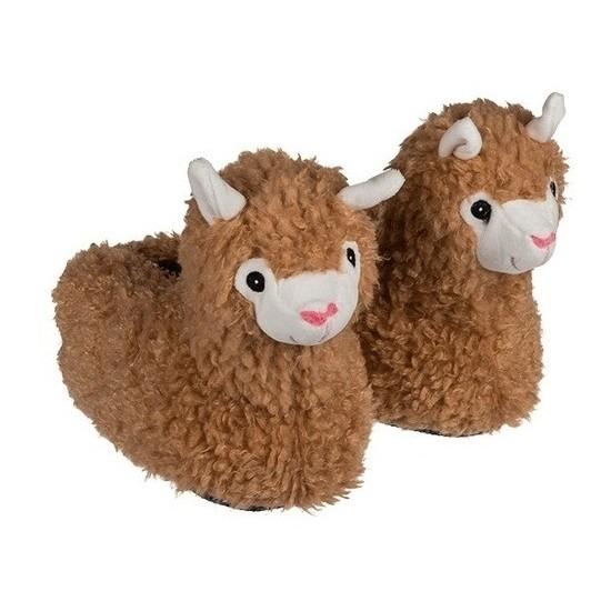 Afbeelding van Alpaca/Lama dierensloffen voor meisjes maat 31/32