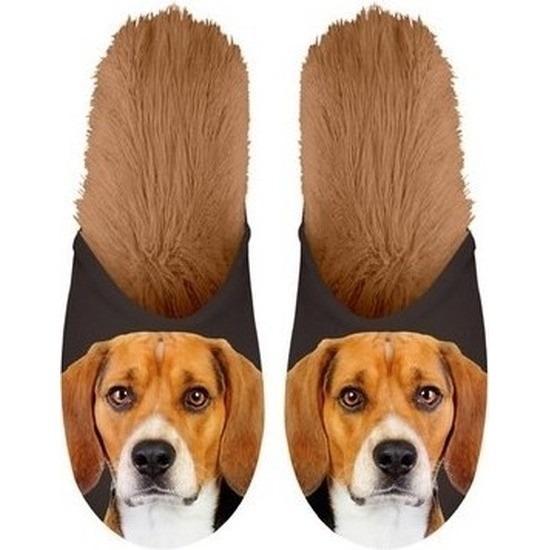 Afbeelding van Beagles hondjes instap sloffen/pantoffels voor kinderen