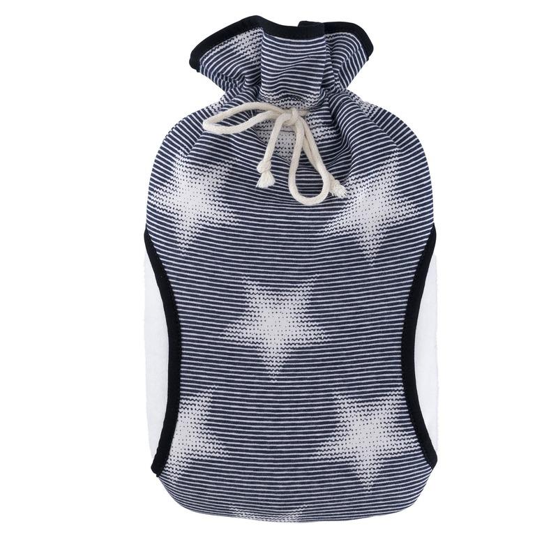 Afbeelding van Blauw met sterren fleece kruiken 2 liter eco plastic