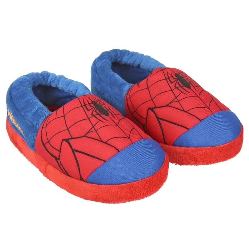 Afbeelding van Blauw/rode Spiderman open pantoffels voor jongens