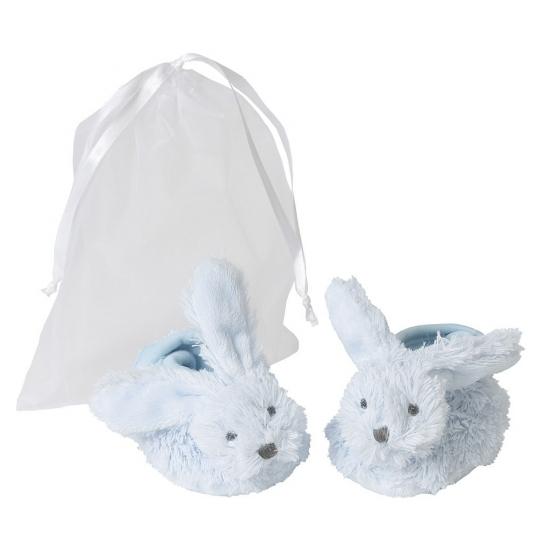 Afbeelding van Blauwe Happy Horse konijnen baby slofjes