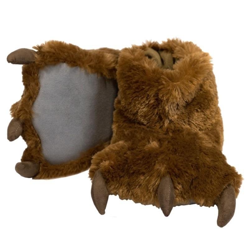 Afbeelding van Bruine beer poten pantoffels voor dames