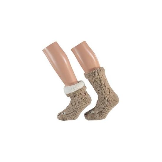 Afbeelding van Bruine hond sokken voor kinderen