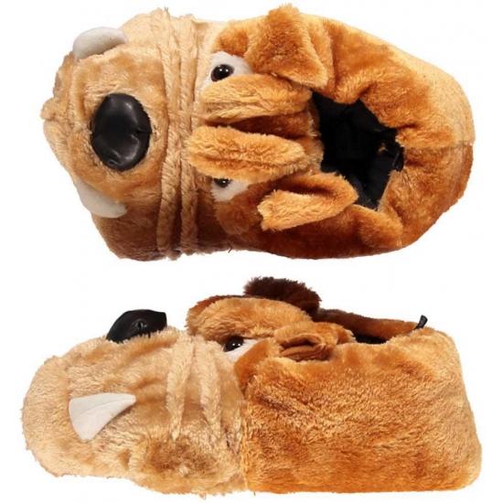 Afbeelding van Bulldog honden sloffen voor kinderen