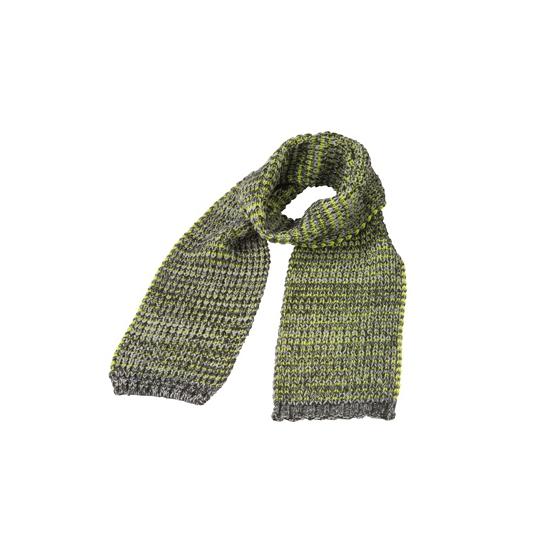 Afbeelding van Casual gebreide sjaal grijs met geel