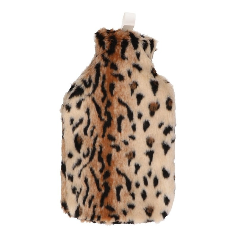 Afbeelding van Cheetah kruik nep bont