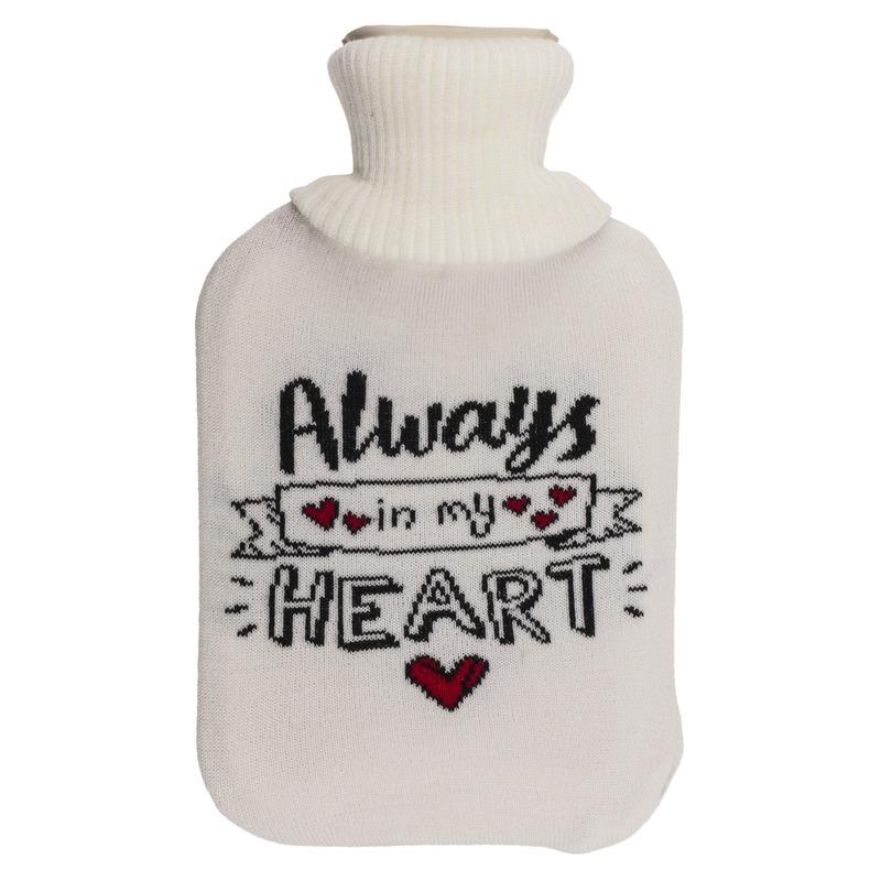 Afbeelding van Creme kruik met hoes Always in my heart 2 liter