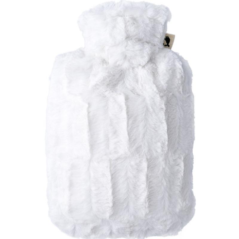 Afbeelding van Cremewitte waterkruik 1,8 liter met zachte pluche hoes