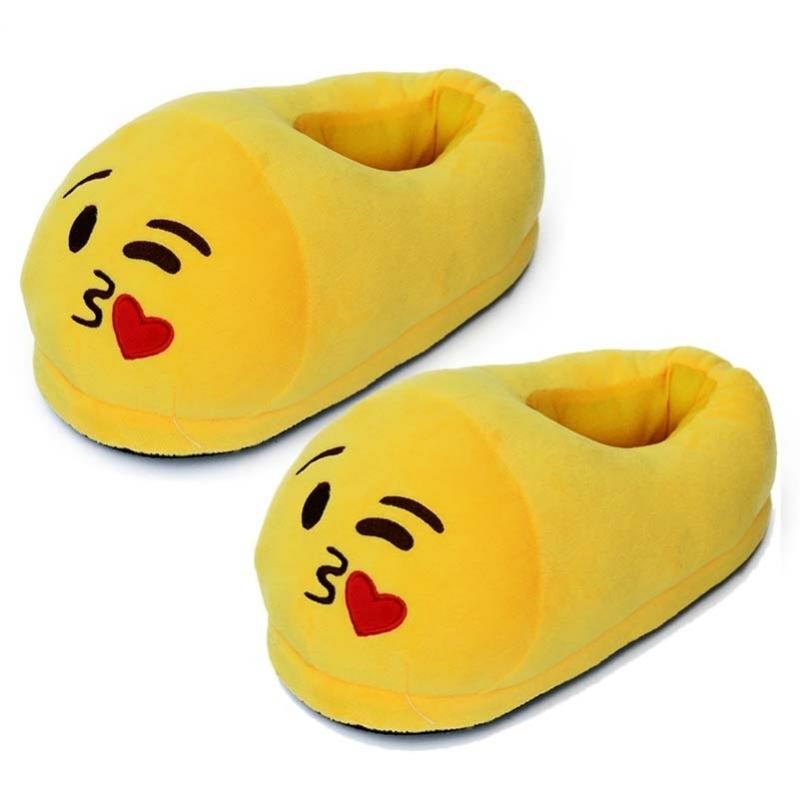 Afbeelding van Dames kus smiley pantoffels