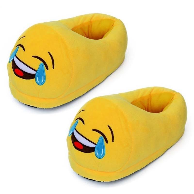 Afbeelding van Dames lachende smiley pantoffels