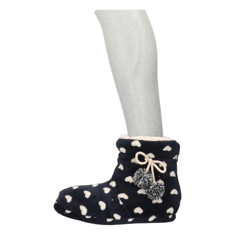 Afbeelding van Dames pantoffels in het navy