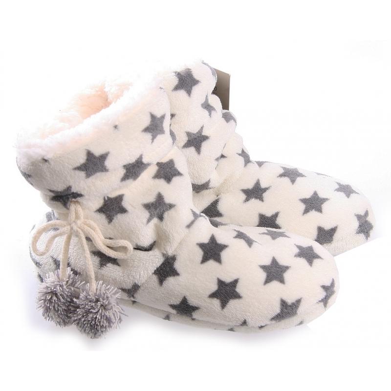 Afbeelding van Dames pantoffels/sloffen in het creme wit