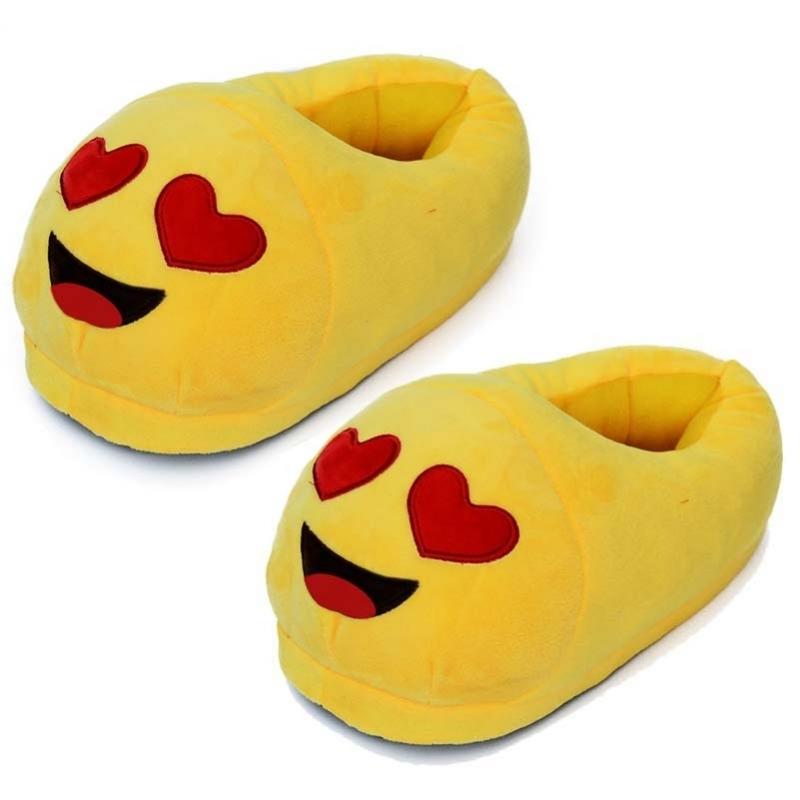 Afbeelding van Dames verliefde smiley pantoffels