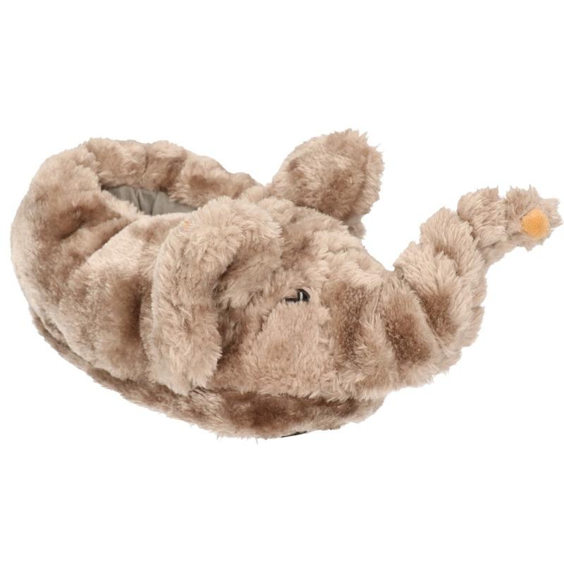 Afbeelding van Dieren olifant pantoffels/sloffen voor kinderen maat 34/36