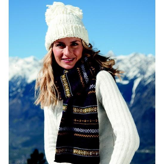 Afbeelding van Extra warme gebreide sjaal