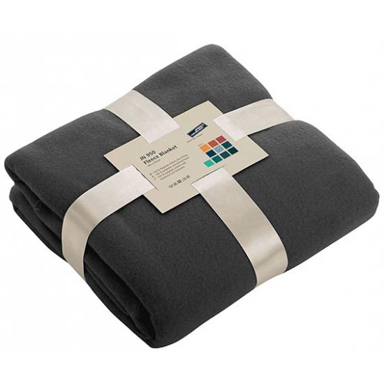 Afbeelding van Fleece dekentje in antraciet kleur