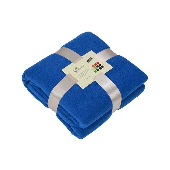Afbeelding van Fleece dekentje in kobaltblauwe kleur