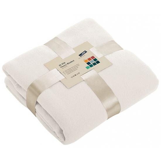 Afbeelding van Fleece dekentje in off white kleur