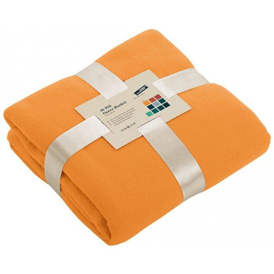 Afbeelding van Fleece dekentje in oranje kleur