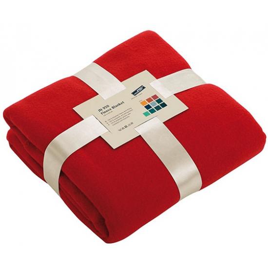 Afbeelding van Fleece dekentje in rode kleur