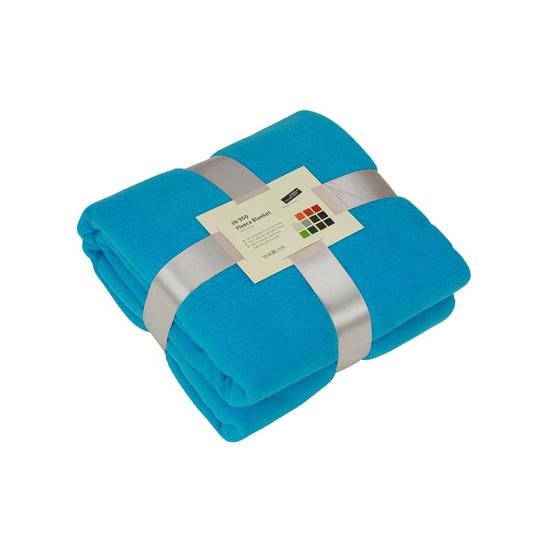 Afbeelding van Fleece dekentje in turquoise kleur
