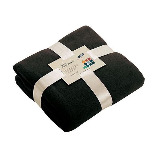Afbeelding van Fleece dekentje in zwarte kleur