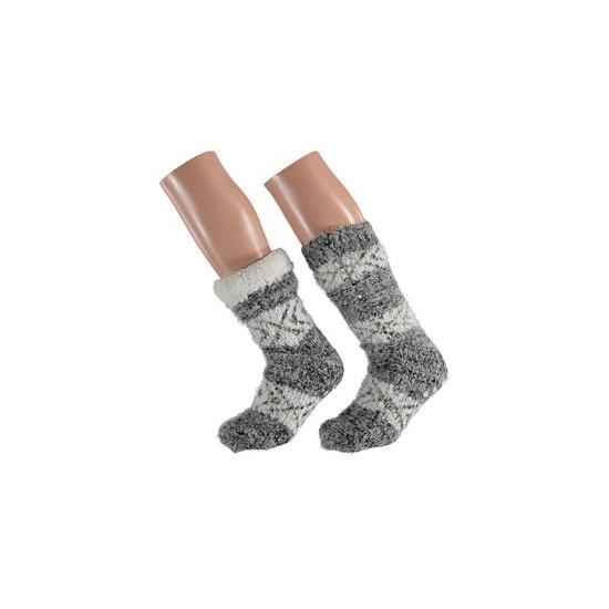 dames-pantoffel-sokken-zebra-motief-in-het-zwart