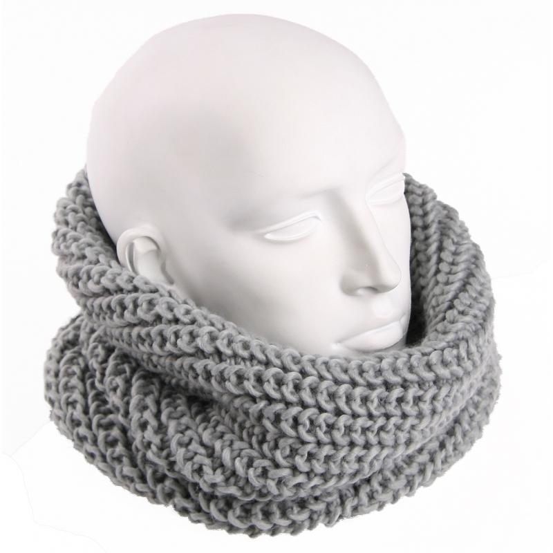 Afbeelding van Grijze heren winter sjaal rond