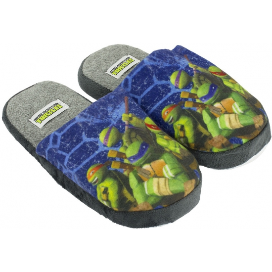 Afbeelding van Kindersloffen van Turtles blauw
