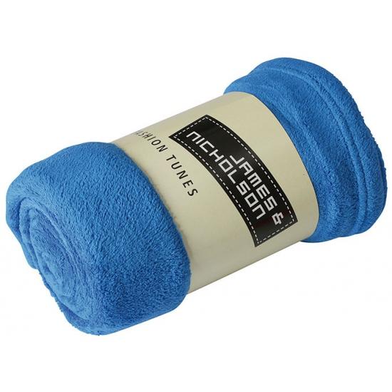 Afbeelding van Picknick kleed van fleece kobalt blauw