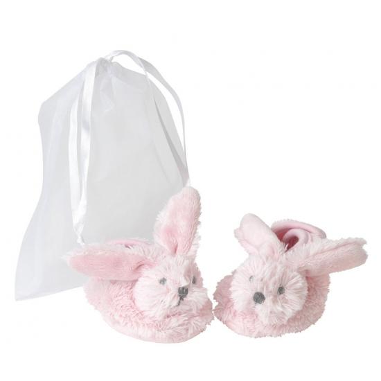 Afbeelding van Roze konijnen baby slofjes van Happy Horse