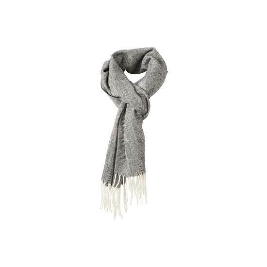 Afbeelding van Visgraat sjaal met gedraaide franje rood