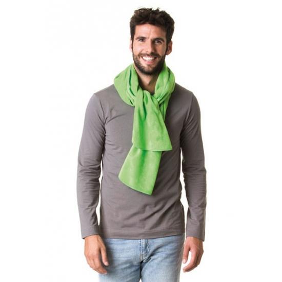 Afbeelding van Warme fleece sjaals lime groen