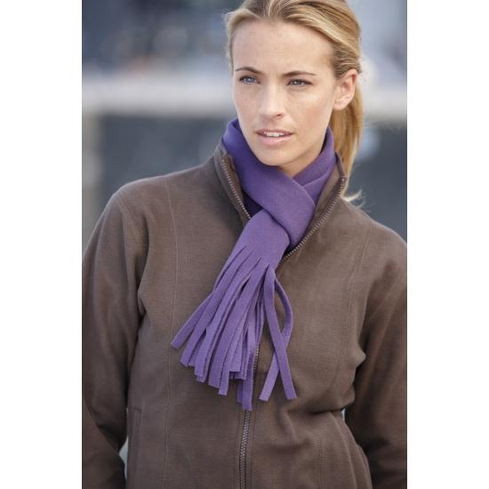 Afbeelding van Winter fleece sjaal met franjes